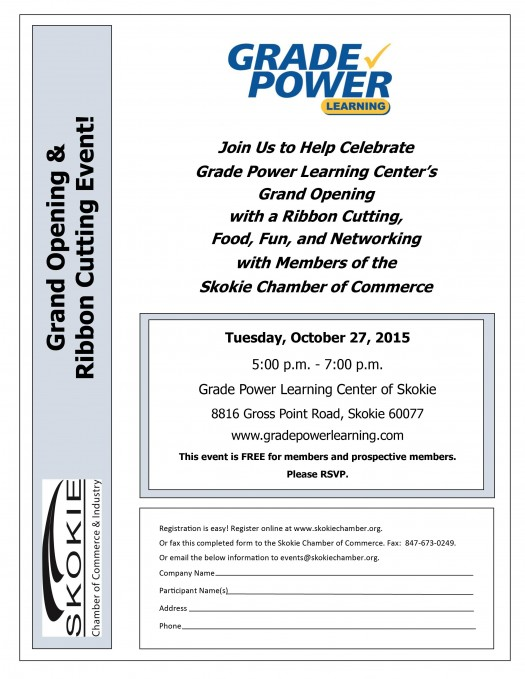 47a9440f74d71 Grade Power Learning Center Grand Opening   Ribbon Cutting - Skokie ...